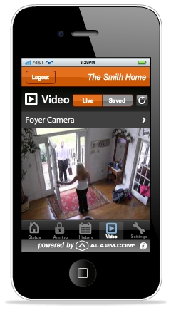 Alarm.com's video monitoring